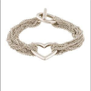 Tiffany &Co Mesh Heart Bracelet